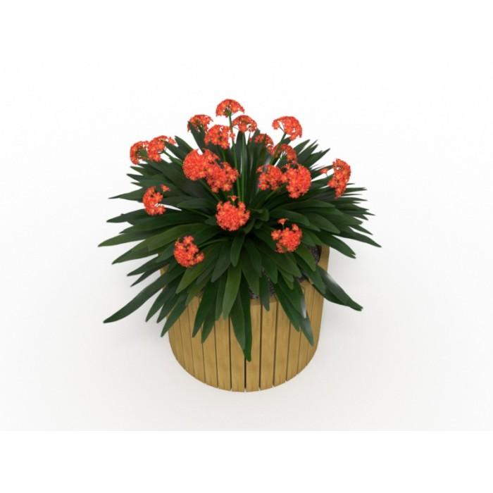 Уличный деревянный вазон для цветов 4.15